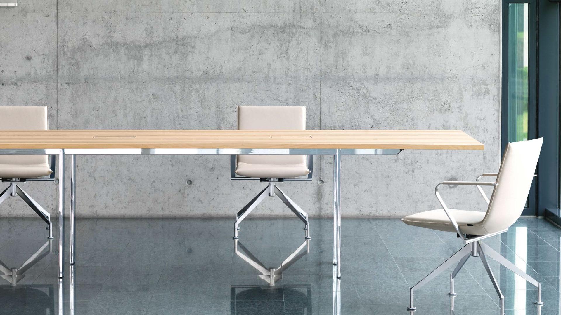 <p>Girsberger Adapt Konferenztisch aus Massivholz</p>